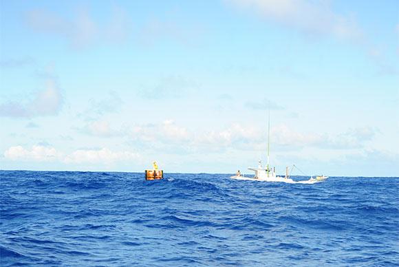 クロマグロも期待できるパヤオ。漁協により特別開放された大物釣りの体験ができる