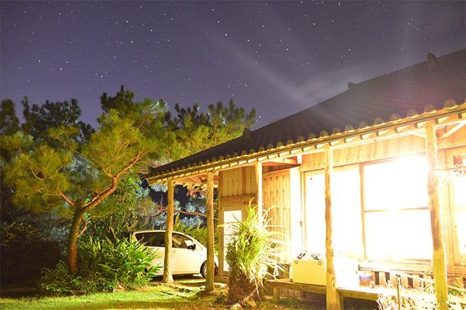 自然と共存するおうち。夜は流れ星が