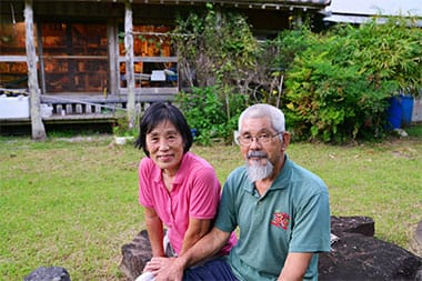與古田力男さん悦子さんご夫婦、長男